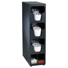 "Dispense-Rite 24""x6.5"" Black Lid & Straw Organizer"