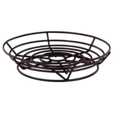 "Vollrath WP9-06 Traex Black Powder Coated 9"" Round Wire Basket"
