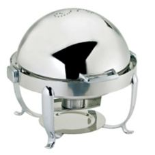 Browne Foodservice 575171 Octave Full-Size Round Chafer with Roll Lid