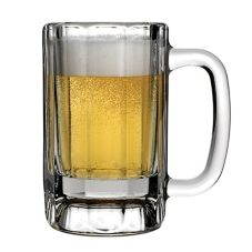 Anchor Hocking 90132 Glass 10 Oz. Paneled Mug - 24 / CS