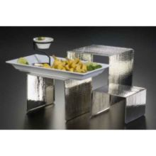 American Metalcraft RSH1 Hammered S/S 3-Piece Riser Set