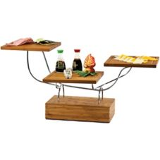 Buffet Euro WS 9000 SW Bamboo Wave Block With Small Square Metal Stand