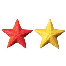 Lucks™ Dec-Ons® Red & Gold Shimmer Stars