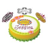 Lucks™ 45783 Edible Image Stylish Birthday Plaques - 20 / BX