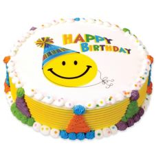 Lucks™ 45823 Edible Image® Happy Face Birthday - 12 / BX