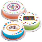 Lucks™ 15899 Edible Image Birthday Party Variety Pack - 12 / BX