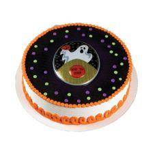 Bakery Crafts® H-343 Ghost Glitter Pop Tops - 1 / BX