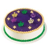 Bakery Crafts® MG-52 Mardi Gras Metallic Crown Rings - 144 / BX
