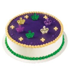 Bakery Crafts Mardi Gras Metallic Crown Rings