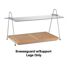 Frilich EB702E Small Sneeze Guard With Support Legs