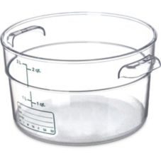 Carlisle StorPlus™ Clear 2 Qt Round Storage Container