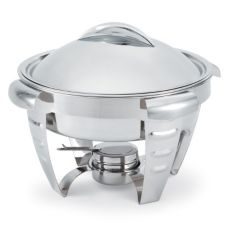 Vollrath® 49522 Maximillian Steel™ Large 6 Qt. Round Chafer