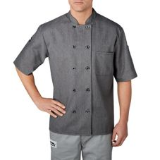 Chefwear® Small Heather Grey Three-Star Chef Jacket