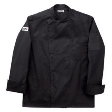 Chefwear® Large Black Traditional Organic Five-Star Chef Jacket