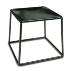 "Delfin Design Black 7"" Square x 6"" High Cube Riser"