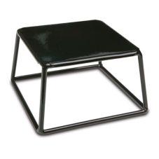 """Delfin TR-764-PL10 7"""" x 7"""" x 4"""" Black Steel Square Cube Riser"""