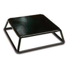 """Delfin TR-762-PL10 7"""" x 7"""" x 2"""" Black Steel Square Cube Riser"""