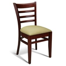 Gar Products GB-205-PS-SIDE-LQ-MAHG Mahogany Padded Seat Side Chair