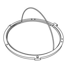 Rubbermaid® 9W43-L1 Infinity Round Retaining Ring