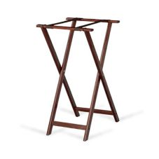 Forbes Industries 6860-MH Mahogany Tray Stand With Brown Straps