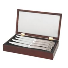 Walco Stainless Saratoga Cherry Steak Knife Gift Box