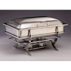 D.W. Haber & Sons 08QUHSS Saturn S/S 8 Qt Chafer with Hinged Cover