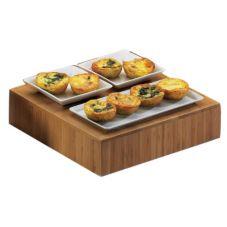 "Cal-Mil® 432-3-60 Bamboo 12"" x 12"" x 3"" Cube Riser"
