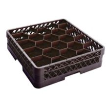 Traex® TR11G-06 Black 20-Compartment Full Size Glass Rack