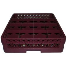 Vollrath TR4D-21 Traex Burgundy 16-Compartment Full Size Cup Rack