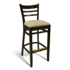 Gar Products Walnut Lacquer (30) Satin Finish Bar Stool w/ Vinyl Seat