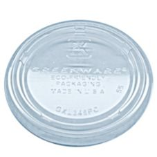 Fabri-Kal 9509322 Greenware Clear 4 Oz. Portion Cup Lid - 2000 / CS