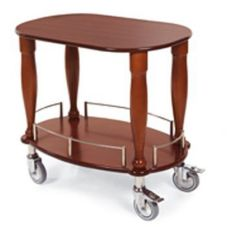 Lakeside® 70030 Gueridon Bordeaux Cart With Casters