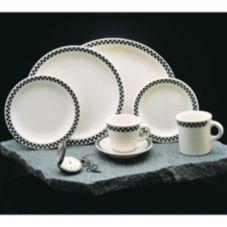 "Homer Laughlin China 4441636 Checkers Black 10-5/8"" Plate - 12 / CS"