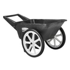 Rubbermaid® FG565461BLA Big Wheel Black Unassembled 3.5 Cu Ft Cart