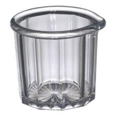 Gessner 1500 Clear SAN Plastic 2 Oz. Creamer / Syrup Pitcher - Dozen