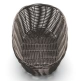 Tablecraft 1476 Brown Oval Woven Plastic Basket - Dozen