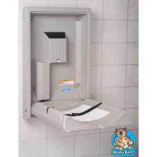 Koala Kare Products Gray Vertical Baby Changing Station
