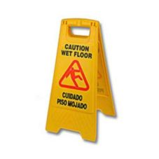 "O'Dell® B-132 Yellow 24"" 2-Sided ""Wet Floor"" Sign"
