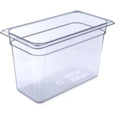 "Carlisle® 1026907 Top Notch Clear 1/3-Size 8"" Deep Food Pan"