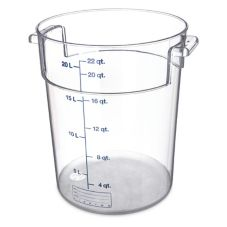 Carlisle StorPlus™ Clear PC Round 22 Qt Storage Container