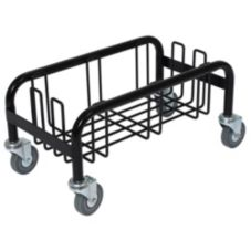 Continental Wall Hugger™ Black Wire Dolly for Waste Receptacle