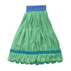 "Continental A10102 Green Anti-Microbial Looped End Mop With 5"" Band"