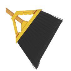 "Continental E515012 Huskee® Wide-Angle Broom w/ 48"" Yellow Handle"