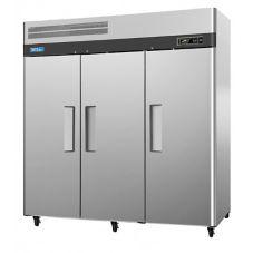 Turbo Air M3R72-3 3-Solid-Door Reach-In 72 Cu. Ft. Refrigerator