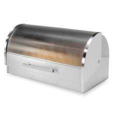 OGGI™ 7199 Stainless Roll Top Bread Box with Tempered Glass Lid
