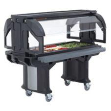 "Cambro® VBR5110 Black Versa Buffet Serving 60"" x 36"" Cold Food Bar"