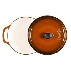 Lodge 6 Qt. Enamel Cast Iron Cafe Brown Dutch Oven