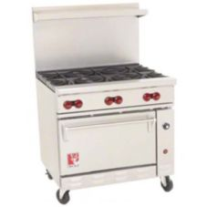 Wolf Range C36-S-6B Challenger XL Restaurant Gas Range with 6 Burners