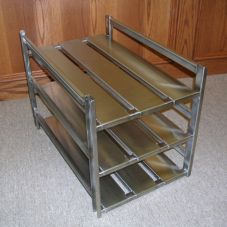 "Quadra-Tech SWO10040 Narrow S/S 15"" x 13"" x 20"" 3-Tier Meat Well Rack"