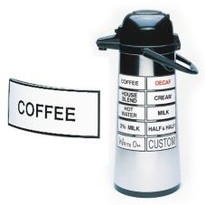 "Cal-Mil 3"" x 1-1/2"" ""COFFEE"" Magnetic Airpot Sign"